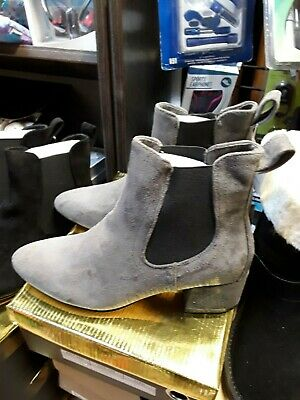 Womens Ankle Boots Chelsea Block Heel Stretch Ladies Pull On Booties Size 3-8  • 19.99£
