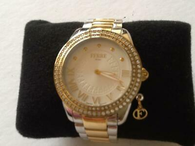 £30 • Buy Pre-owned: Ferre Milano Ladies Crystal Bezel Two Tone Watch. 1L027