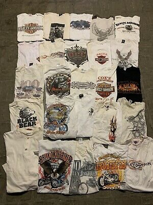 $ CDN261.33 • Buy Vintage Harley Davidson Sturgis Rally Biker Wholesale T Shirt 25 Lot Bundle 00s
