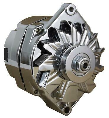 $ CDN84.69 • Buy New Chrome Bbc Sbc Chevy Alternator Fits 110a 1 Wire Ho Self Exciting Energizing