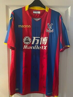 Crystal Palace Home Shirt 2017/18 Signed By 17 Players. • 75£