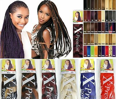 XPRESSION (X-pression) Premium Ultra Braid Hair Extension Various Colours • 5.49£