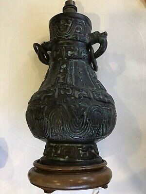 Heavy Bronze Chinese Table Lamp • 100£