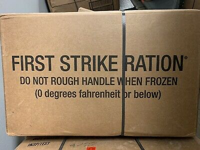 $150 • Buy 1 CASE MRE First Strike Ration INSP/TEST DATE 06/2022 Military Issue, New