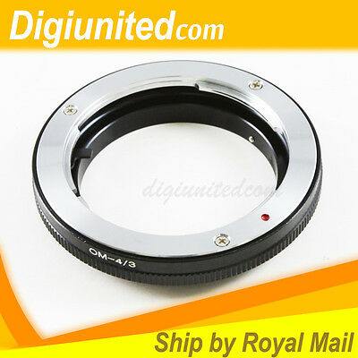 Olympus OM Lens To Olympus Four Thirds 4/3 Mount Adapter E-3 E-30 E-510 E620 E-5 • 13.37£