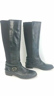 £31.10 • Buy Sperry Tall Black Leather Riding Boots Stretch Shaft Pull On Shoes Womens Sz 8.5