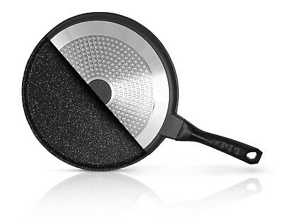 Pancake Non Stick Tawa Crepe Roti Dosa Bread Flat Maker Cooking Frying Pan 25cm • 18.99£