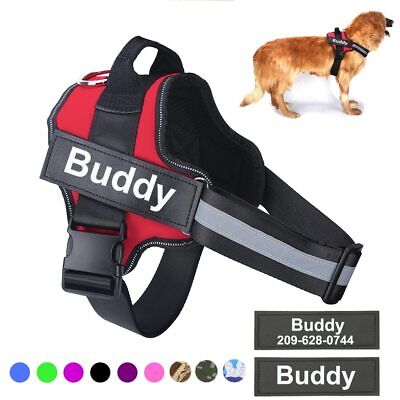 £16.41 • Buy Personalized Dog Harness NO PULL Reflective Breathable Adjustable Pet Harness