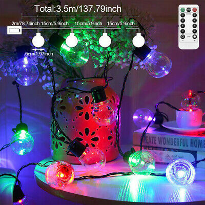 20M 200LED Christmas String Lights Electric Ball Fairy Bulb Garden Outdoor New • 12.98£