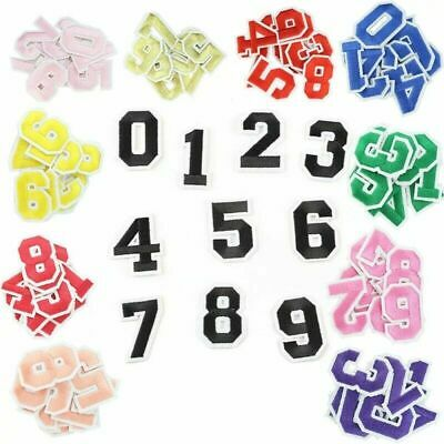 £1.49 • Buy Number Patch Patches College Iron-On / Sew-On Retro Alphabet Embroidery Clothes