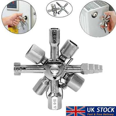 10 Way Service Utility Key 10 In 1 Universal Cross Key Plumber Keys Triangle UK • 7.34£