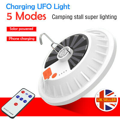 Solar Powered Lights LED Bulb Lamp 5-Mode Emergency Outdoor Camping Rechargeable • 9.99£