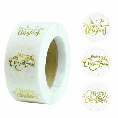 Merry Christmas Clear Happy Xmas Labels Stickers Gift Craft Box Sticker • 1.89£