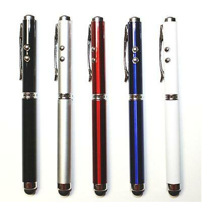 £5.75 • Buy 2X 4-in-1 Ballpoint Pen + Stylus + Pointer + LED For IPad IPhone IPod Tablet PC