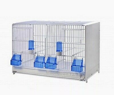 £49.99 • Buy Double Breeding Cage 58cm Italian Quality Cage For Canary, Finch , Small Birds
