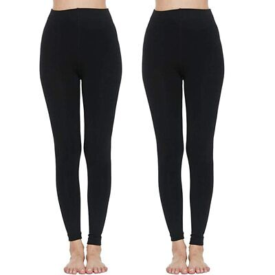 £1.15 • Buy Ladies Women Thermal Leggings Fleece Lined Winter Thick Black 2.3 Tog Rated S-xl