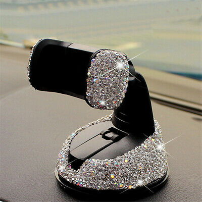 $ CDN15.95 • Buy 1Pcs Car Phone Holder Dashboard Stand Crystal Bling Girls Interior Accessories