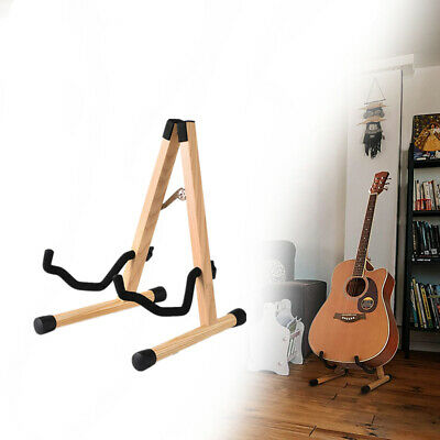 AU30.50 • Buy Guitar Stand Wooden Free Standing Portable Folding Bass Guitar Stand For Travel