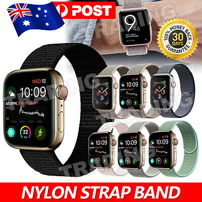 AU5.95 • Buy Sport Nylon Woven Loop Strap IWatch Band 38 42 For Apple Watch Series 6 5 4 3 2