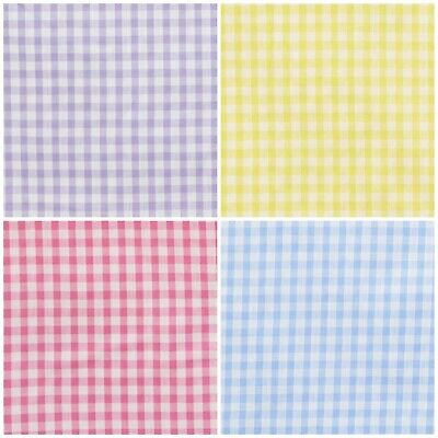 £3.95 • Buy Gingham 1/4  Check Polycotton Craft Fabric Checked Material Dress Uniform