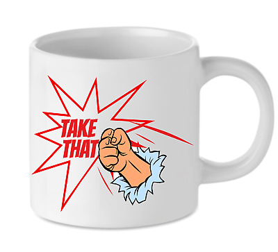 £9.99 • Buy TAKE THAT FIST PUMP MUG Funny Novelty Gift Coffee Cup Present TT Hen Party