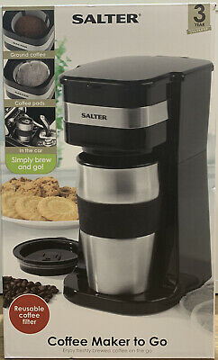 Salter 700W Coffee Maker To Go 420ml Personal Filter Coffee Machine • 18£