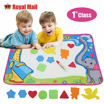 £7.79 • Buy Large Doodle Water Painting Drawing Mat Toys Boys Girls Kids Board Aquadoodle