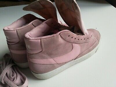 Nike Blazer Mid  Blush/Pink Suede High Top Trainers UK Size UK 6 EUR 40 • 22£