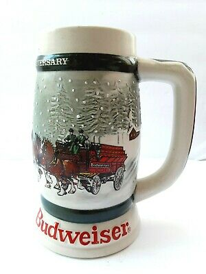 $ CDN38.88 • Buy 1982 Budweiser 50th Anniversary Clydesdale's Holiday Beer Stein Mug 1933-1983