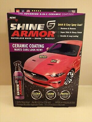 $19.99 • Buy SHINE ARMOR Fortify Quick Coat, Ceramic Coating, Car Wax Polish Spray 3 In 1 Kit