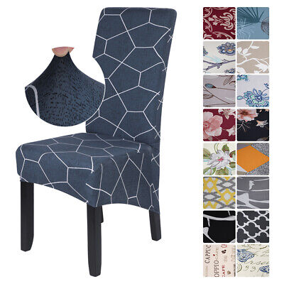 Elastic Stretch Dining Chair Covers Removable Protective Slipcovers High Back UK • 4.55£