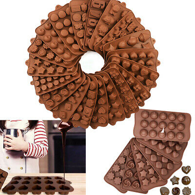 £2.99 • Buy 3D Silicone Chocolate Mould Cake Candy Soap Wax Melt Mold Jelly Ice Cube Tray