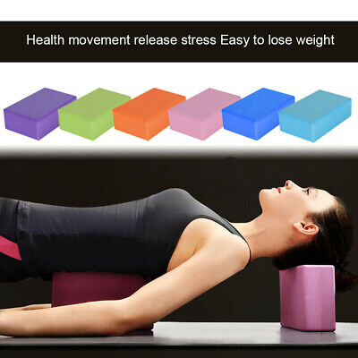 2 X Yoga Block Pilates EVA Foaming Exercise Gym Fitness Up Stretching Foam Brick • 7.99£