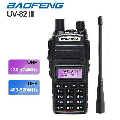 BaoFeng UV-82 Real 8W Walkie Talkie Dual Band VHF/UHF Two-Way Radios Transceiver • 30.36£