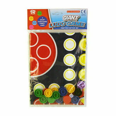 Traditional Giant Ludo Family Game Gift Play Mat Family FUN 74 Cm X 74 Cm    • 2.65£