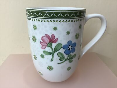 £9.99 • Buy Villeroy & Boch China Pink / Blue / Yellow Floral Mug Unused Condition