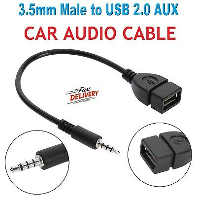 $5.49 • Buy 3.5mm Male Audio AUX Jack To USB 2.0 Type A Female OTG Converter Adapter Cable