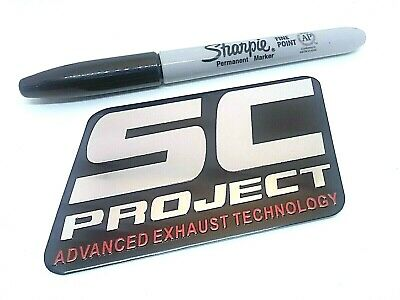 SC PROJECT 3D Exhaust Heat Proof 100mm Aluminium Sticker Decal Motorcycle • 4.99£