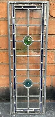Stained Glass Leaded Window With Colourful Roundles • 120£