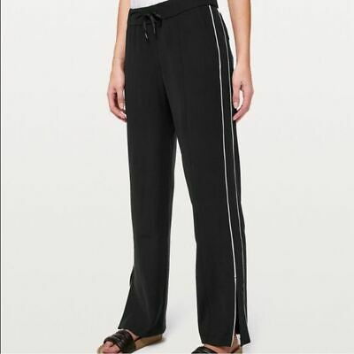 AU84.17 • Buy NWT Lululemon Womens On The Right Track Pant Black/White Size 0 MSRP $118