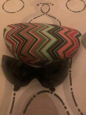 BNWOT Missoni Black Sunglasses With Patterned Sides With Case • 15£