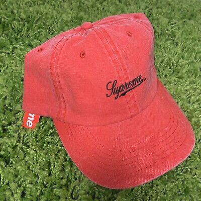 $ CDN116.78 • Buy Supreme Pigment Print Script Logo 6-Panel Cap Hat Red FW20 New York DS *NWT*