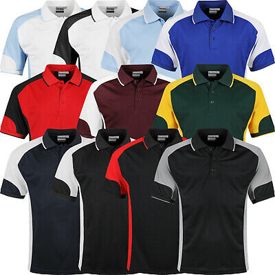 £8.99 • Buy Mens Polo Shirts Short Sleeve Regular Fit Breathable Pique Work Casual Plain Top