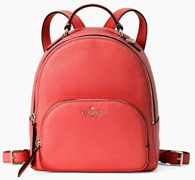 $ CDN158.20 • Buy Kate Spade Jackson Red Pebbled Leather Medium Backpack WKRU5946 NWT $359 MSRP FS