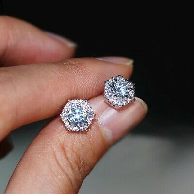 £5.99 • Buy 18k Platinum Plated Star Stud Earrings Made With  Swarovski Crystals Gift Wg22