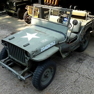 Willys Jeep 1943 Ford GPW Jeep Military Vehicle Classic Car Barn Find Geronimo  • 31,500£