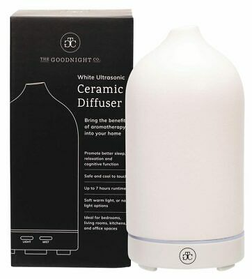 AU133.95 • Buy The Goodnight Co. Ceramic Essential Oil Diffuser - White