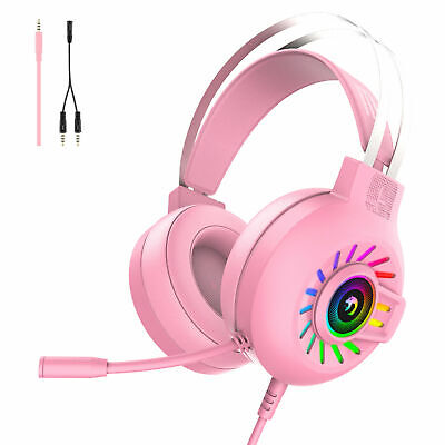 £12.59 • Buy M10 Gaming Headset RGB LED Wired Headphones Stereo With Mic For One/PS4 PC Xbox