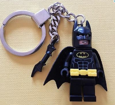Batman Keychain Keyring With Bat-a-Rang Made From All Genuine LEGO Parts NEW • 7.99£