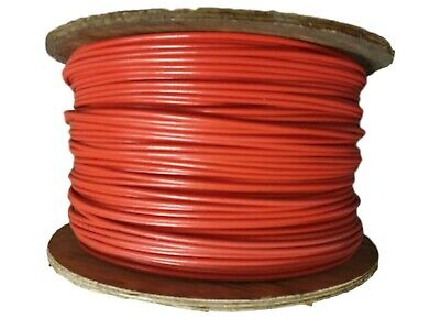 £4.50 • Buy Red Plastic Coated Wire Rope - 2mm Coated To 4mm - 7x7 Galvanised Wire Rope